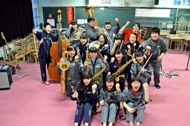 高木姉妹報告会で演奏 札内中吹奏楽部が練習に熱
