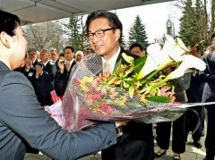 米沢市長3期目スタート 職員に訓示