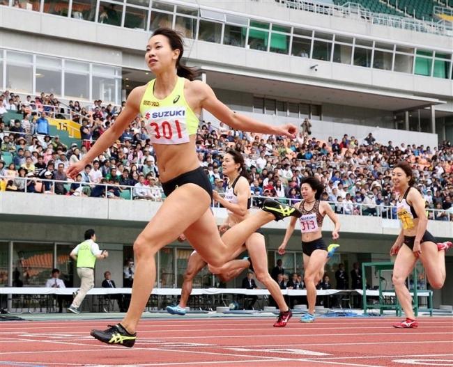 福島千里女子200M2連覇、静岡国際陸上