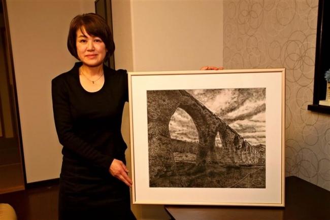 田野水墨画展で入賞 幕別町札内の成田さん
