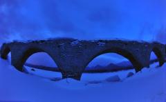 輝く幻のタウシュベツ橋梁、姿現す 上士幌    写真2