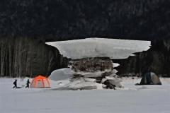 きょう大寒、管内冷え込み厳しく 糠平湖に「キノコ氷」  2