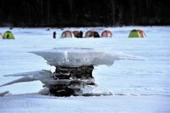 きょう大寒、管内冷え込み厳しく 糠平湖に「キノコ氷」  4