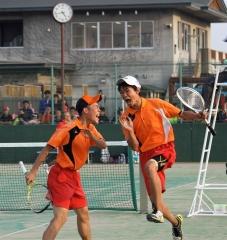 遠藤・池守組、今井・唯野組V 高体連ソフトテニス