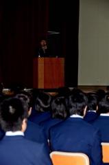 インターステラ稲川社長、大樹高で講演 2