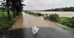 水位が上昇した札内川(8月30日午後2時すぎ)