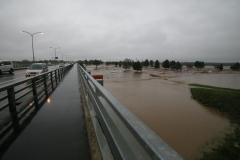 水没した札内川河川敷のパークゴルフ場(8月31日午前5時)