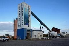 プラントの外壁に描かれたインターステラテクノロジズ社のロケット