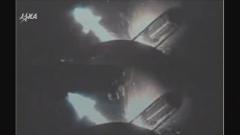 固体ロケットブースター(SRB-A)分離(12月9日、JAXA提供)