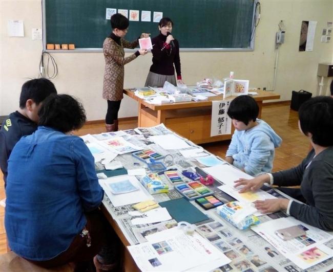 親子で楽しく 市社協のかんたんパステル画教室