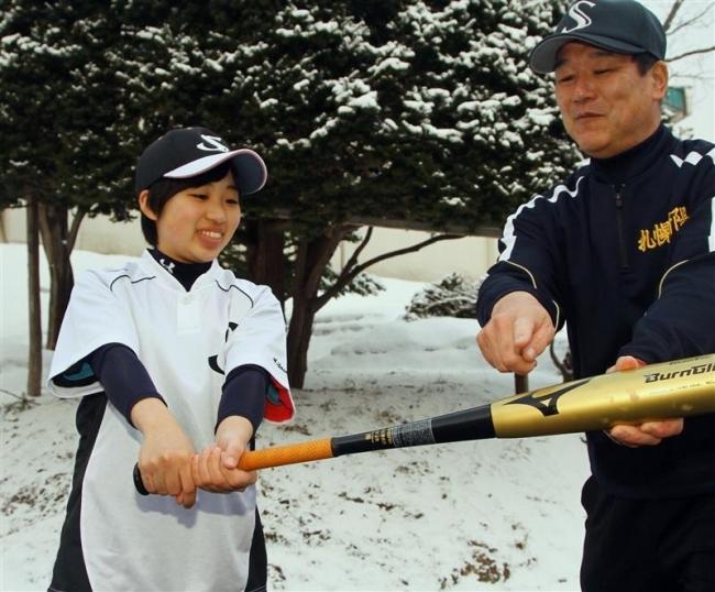 札新陽高女子野球部、石井監督の下で笹谷スタメン狙う