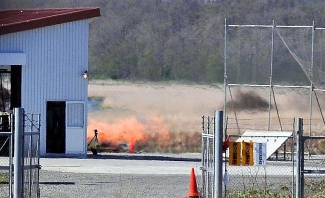打ち上げ同型軽量エンジン120秒燃焼 IST