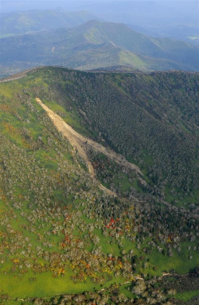 台風土砂崩れ 800カ所 土石流引き金に 日高山脈