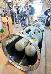 ロケット組み立て公開 IST打ち上げへ 18