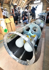 ロケット組み立て公開 IST打ち上げへ 19