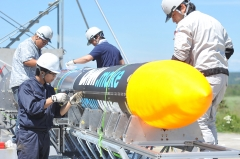 ISTロケット完成 打ち上げ準備万全 大樹で公開 写真2