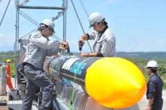 ISTロケット完成 打ち上げ準備万全 大樹で公開 写真6