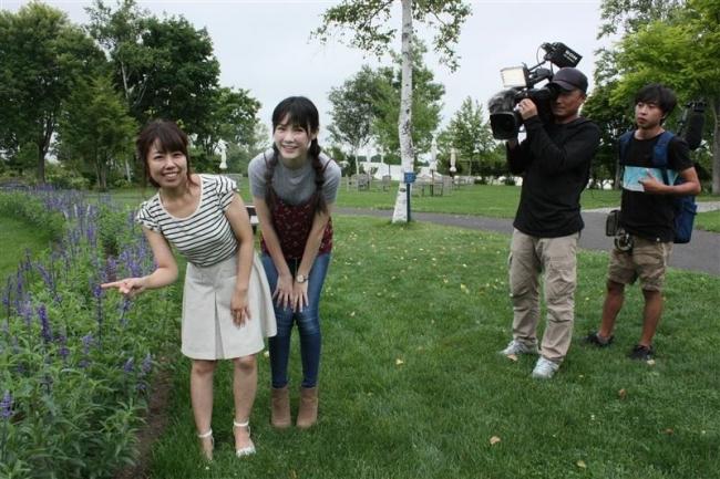 台湾のウーさんらロケ ガーデン街道巡る