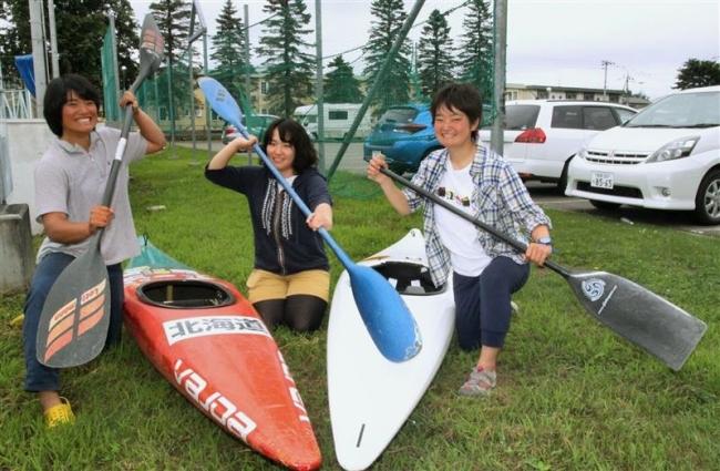 帯畜大カヌー探検部の女子3選手、国体に出場