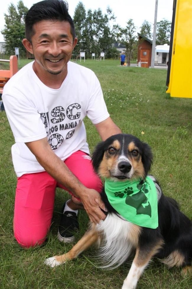 愛犬に近づかないで 緑のバンダナ運動提唱 帯広のドッグトレーナー村中さん
