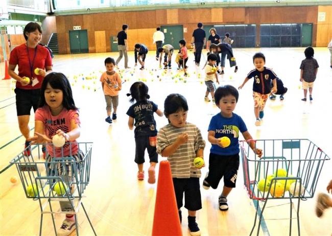 元気よく運動楽しむ 新得・子どもスポーツクラブ