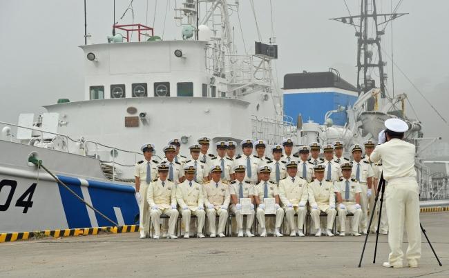 万感込め別れ 広尾・巡視船引退式