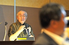 北海道全体を味方にする全体構想の必要性を説いた的川氏(金野和彦撮影)