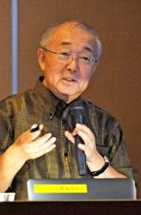 JAXA的川名誉教授が講演 大樹の取り組み「道全体が動くこと 5