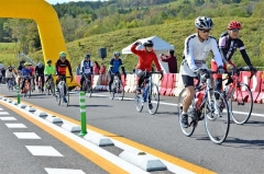 秋風感じ駆け抜ける 陸別小利別ICで自転車イベント 2