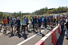 秋風感じ駆け抜ける 陸別小利別ICで自転車イベント 5