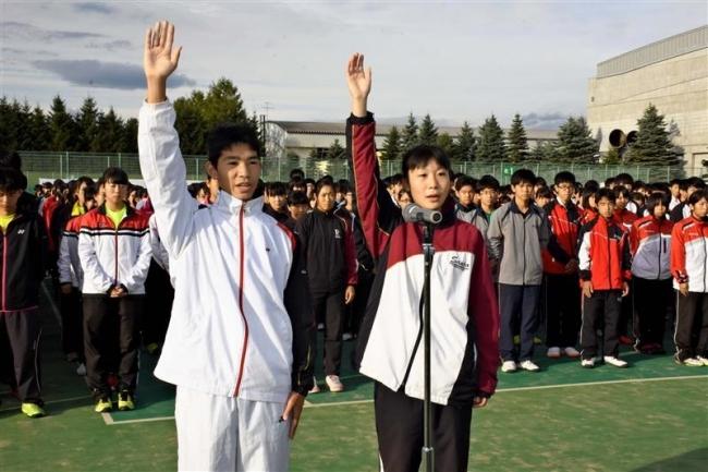 全国を懸けた熱戦スタート 道高校秋季テニス大会