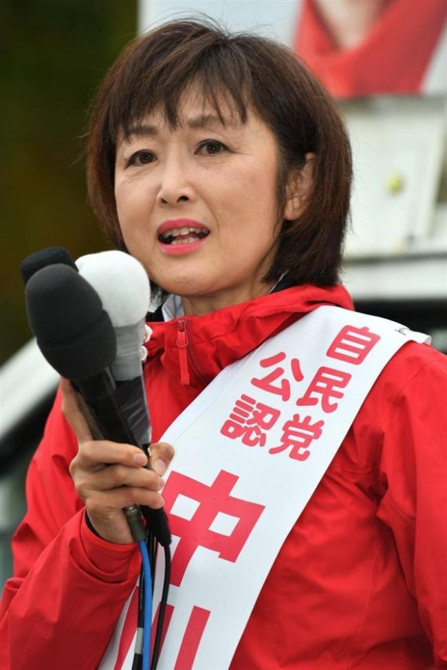 中川郁子候補が第一声「勝ち組の十勝つくる」