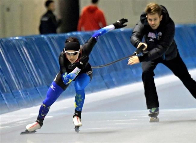 神谷、高木美ら調整順調スケートナショナルチーム練習