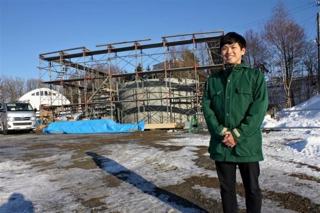 コンペ最優秀の露天風呂建築 3月に完成 大樹