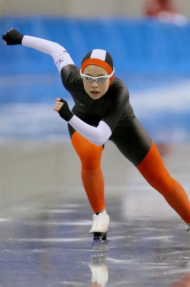 古川幸希女子500M大会新連覇 全中スケート