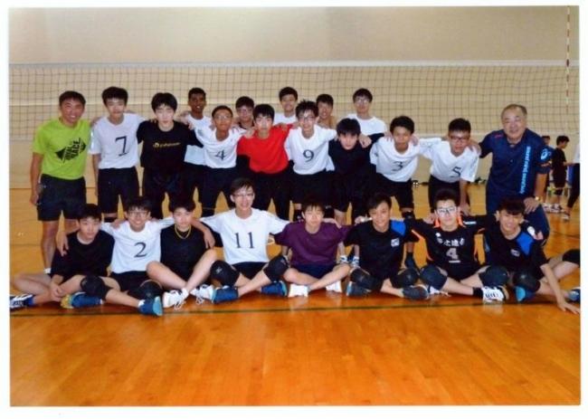 中学男子バレー帯広連合Jr.エース、シンガポールで交流