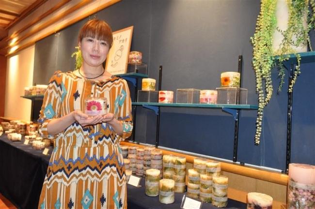 北海道ホテルで花のキャンドル展