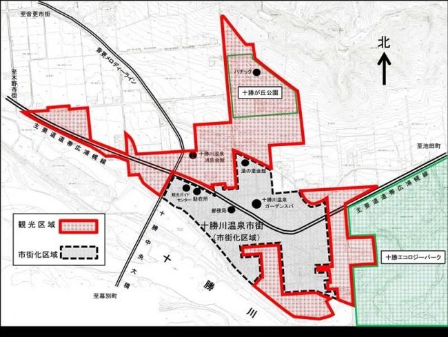 「観光区域」設け規制を一部緩和 十勝川温泉開発計画素案