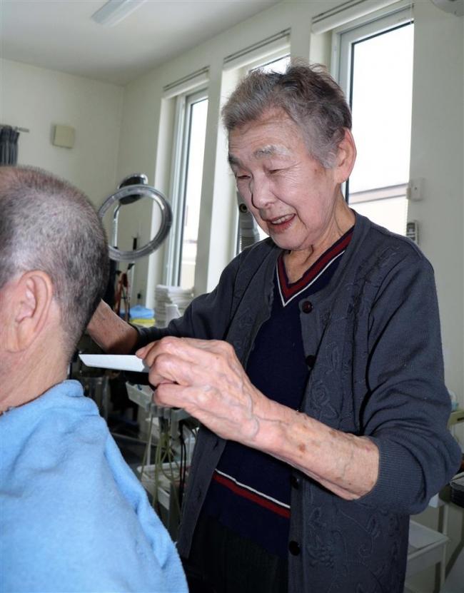 約70年理容の第一線 新得の87歳中谷喜久子さん