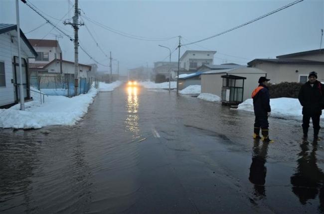 大雨で住民に避難指示 足寄・旭町地区