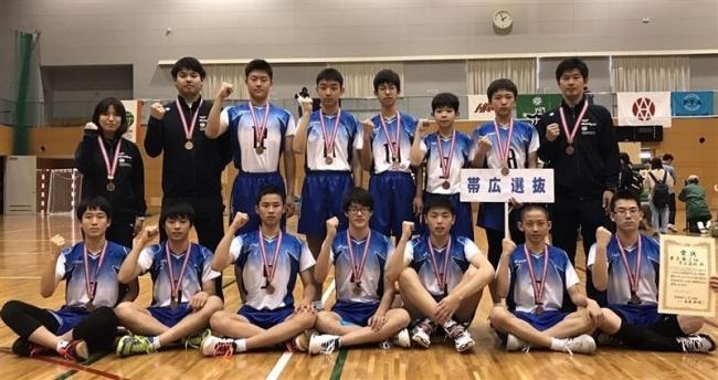 帯広選抜男女とも3位、道中学選抜バレーボール