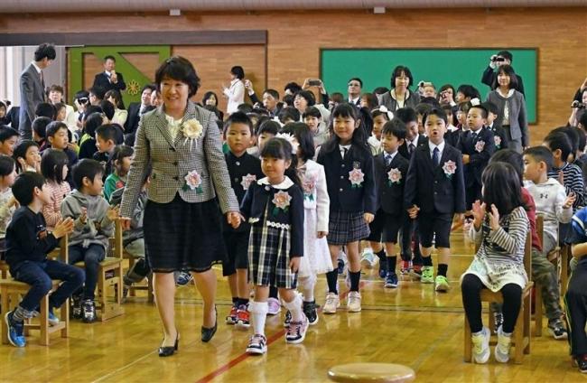 小学校わくわく 入学式