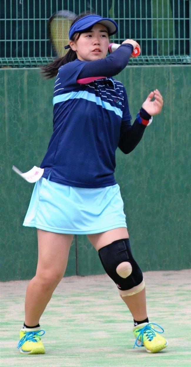帯南商団体戦男女2連覇、高体連テニス予選