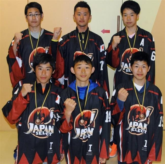 十勝の中学6選手アイホケ日本選抜欧州遠征3位に貢献