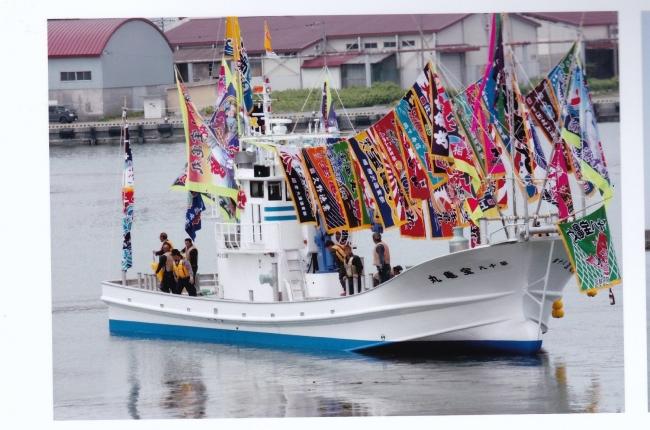 秋サケ定置網用新造漁船が完成 亀田漁業部