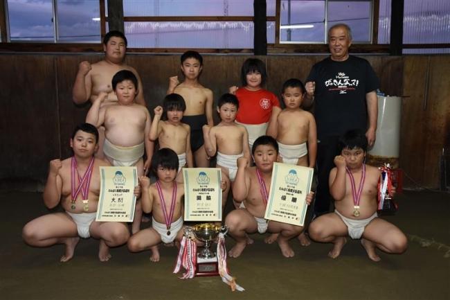 十勝相撲連盟団体V 西明2冠 わんぱく相撲夕張場所