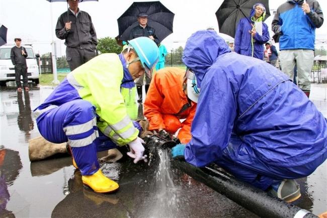水道協会道支部が帯広で災害対応訓練