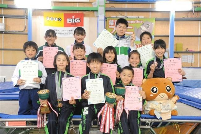 トランポリンで十勝の小中学生選手活躍 全国などへ意欲