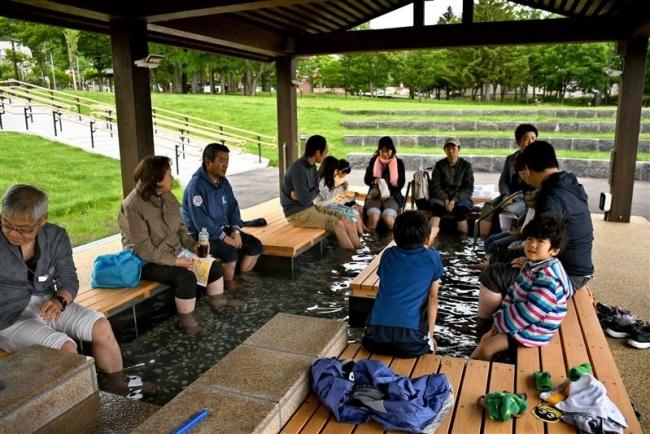 リニューアル記念でイベント 上士幌ぬかびら源泉郷の中央園地