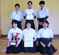 帯緑陽C高校団体戦V 全十勝弓道選手権大会
